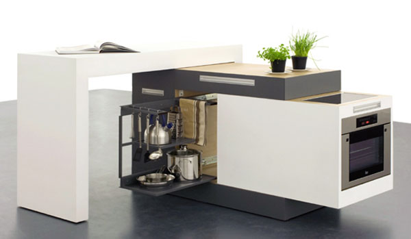 Modern small modular kitchen design designed in simple and modern looking