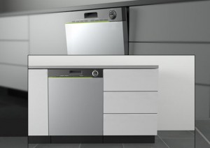 Moderns stainless steels dishwasher and control with IPhone