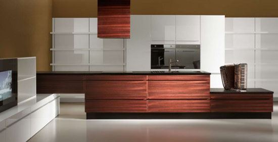 Multimedia Kitchen for Open Plan Area – Opera from Oikos