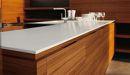 Natural Minimalist Kitchen with gorgeous teak and walnut finishe