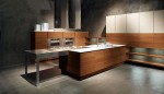 Natural and Minimalist Kitchen with gorgeous teak and walnut finishes