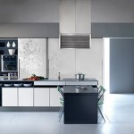 New Gaia Urban Kitchens from Bazzeo bring delicate paradox by massive panelled wall units