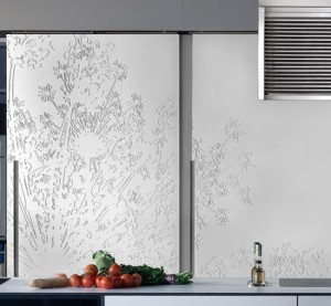 New Gaia Urban Kitchens from Bazzeo brings delicate paradox by massive panelled wall unit