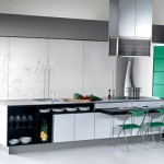 New Gaia Urban Kitchens from Bazzeo brings delicate paradox by massive panelled wall units