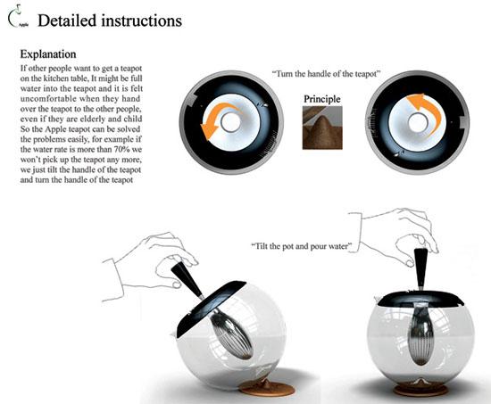 New moderns product design kitchenware apple teapot