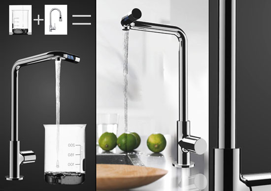 No More No Less faucet with LCD screen for control