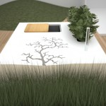 Outdoors Kitchen surrounded trees and under an open sky by Electrolux