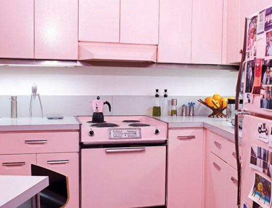 Pink kitchen accessories with pink Bialetti espresso maker
