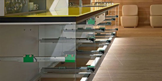 Recyclable Kitchen less waste of resources and energy by Valcucine