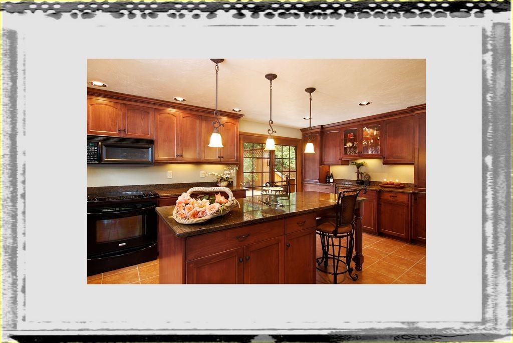 Remodeling Kitchen In Wooden Interior Design_Brown Varnished Wooden Layer Kitchen Island Ideas remodeling kitchen ideas