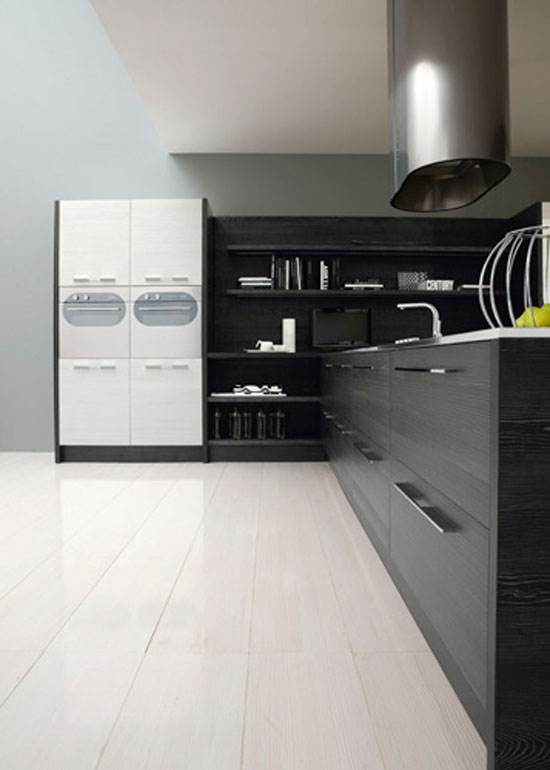 Romantic kitchen with LED integrated by Futura Cucines