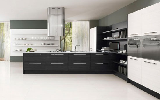 Romantic kitchen with LEDs integrated by Futura Cucine
