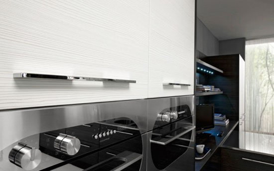 Romantics kitchens with LED integrated by Futura Cucine
