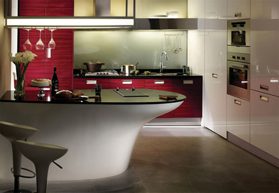 Ruby Teak Kitchen Design from Hanssem Korean kitchen designer