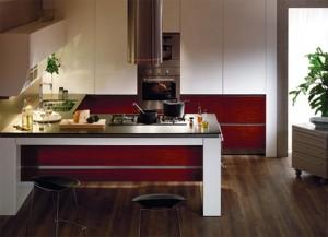 Ruby Teak Kitchens Design from Hanssem Korean kitchen designer