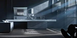 Rustic Kitchen Design with hygienic material by Valcucine