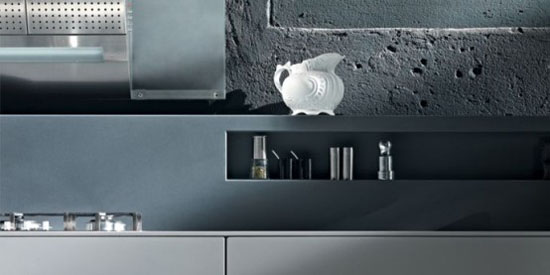Rustic Kitchen Designs with hygienic material by Valcucine