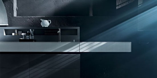 Rustic Kitchens Design with hygienic material by Valcucine
