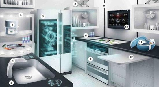 SKARP kitchen concept by IKEA use high technology kitchen