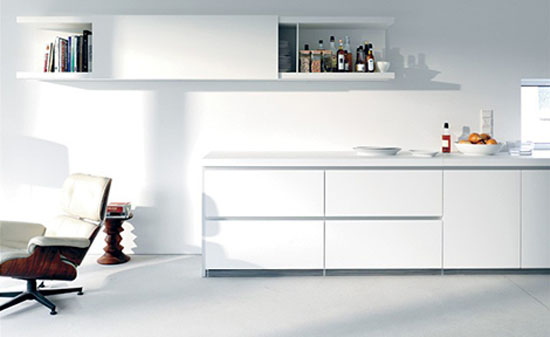 Simple and luxury white kitchen allowed laminate veneer stainless steel timber and glass