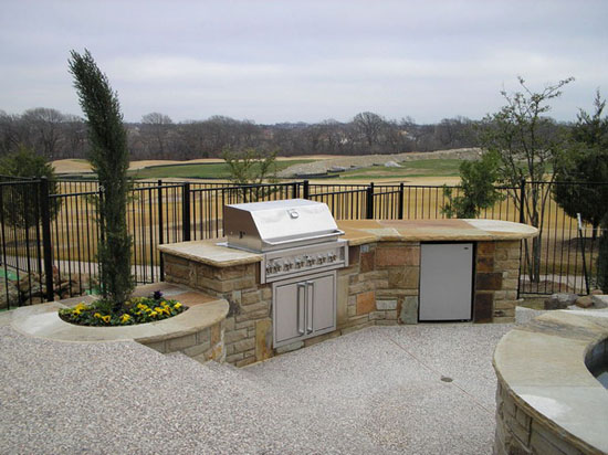 Top 28 small backyard kitchen small budget friendly for Small outdoor kitchen ideas