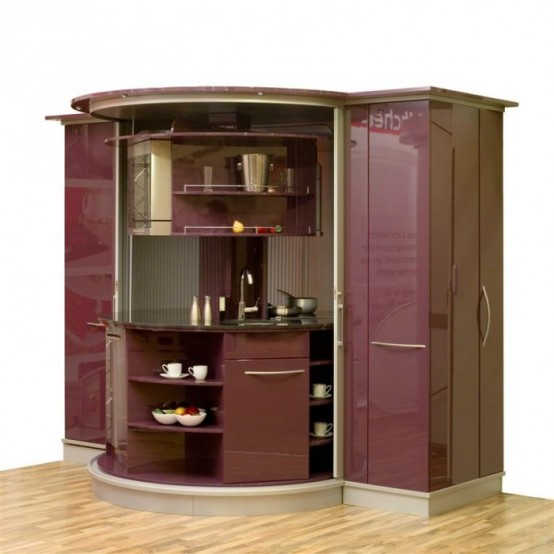 Small circle kitchen compact concepts for small kitchen for Ideas for small kitchen spaces