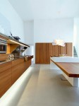 Snaidero kitchen designs has contrast shapes and materials in Kube