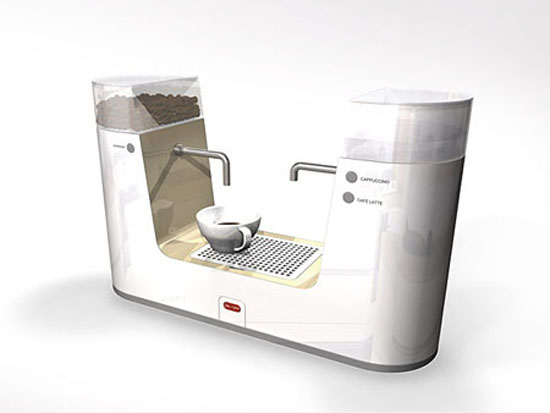 Space Saving Coffee Maker design for small kitchen from Makkina