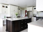 Square kitchen island suitable in U shaped or L shaped kitchens