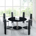 Stylish-Black-Dining-Room-Design-Ideas-Feature-Round-Table
