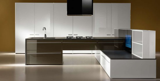 Swarovski Crystals in modern kitchen By Auro offers high quality products