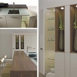 Tennessee walnut pale woods natural in tabletop and showcase cabinet with warm magnolia finish