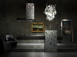 The Isola Linear kitchen design using material like steel with clean lines and square