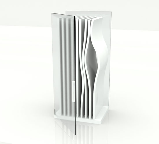 The most unique fridge of bent sitting in the world with simple color theme