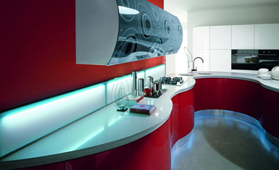 The sensual feminine line designed women kitchens style by Aster Cucine