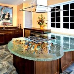 ThinkGlass created personalize kitchen use glass kitchen countertops beautiful patterns