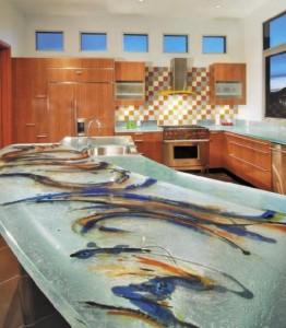 ThinkGlass created personalize kitchen use glass kitchens countertops beautiful patterns