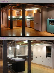 Transforming the old cabinets is more useful and add modern kitchen appliances is the second step. give modern elements, like the kitchen island or kitchen bar is the last step. First, it is a very difficult task, get rid of their old stuff, but save things that you still need it and change cabinets materials and colors into modern.