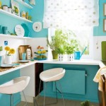 Turquoise Kitchen Decor and Space Saving Tricks