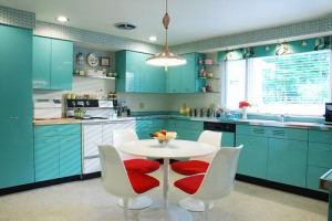 Turquoise decorative kitchen painting ideas colorful