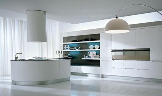 U shape kitchen work flow effortlessly small kitchen by Pedini