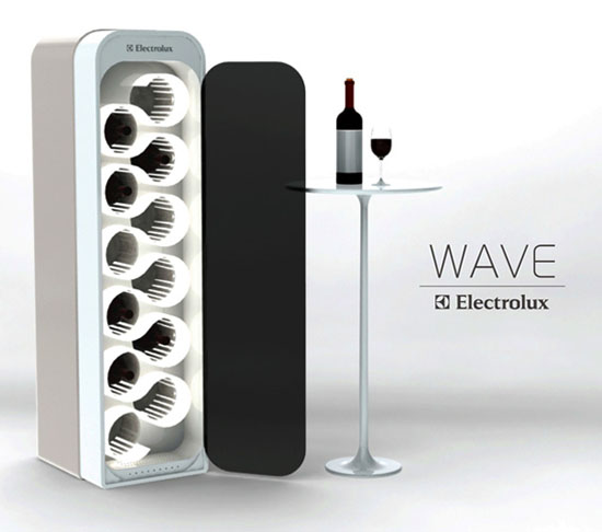 Ultra sonic wine storage with touch screen technology