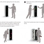 Ultra sonic wines storage with touch screen technology