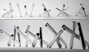 Union jack tap from stainless steel is high end design goodie