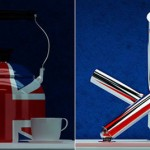 Union jack tap from stainless steel is high end design goodies