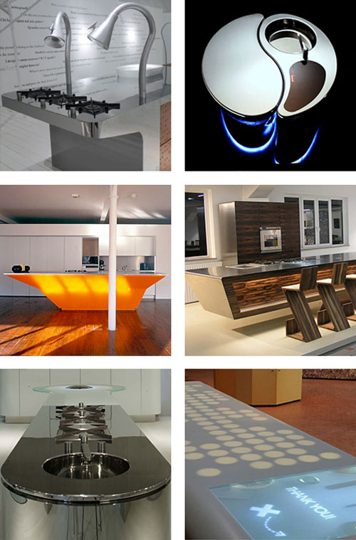 Unusual Kitchen Islands Ideas architectural design cutting edge technological creation