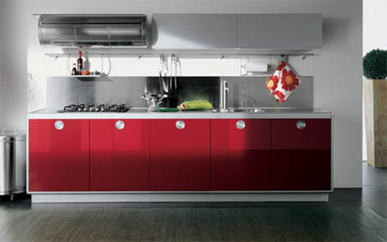 Valcucine Kitchen style of mid century modern kitchen  playfulness and colorful