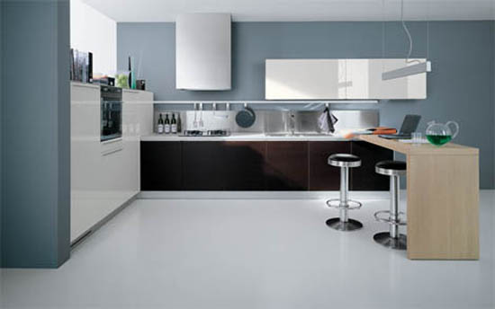 Valcucine Kitchens style of mid century modern kitchen  playfulness and colorful