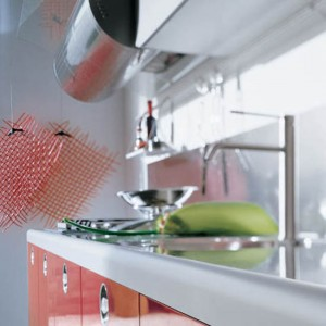 Valcucine Kitchens style of mid century modern kitchens playfulness and colorful
