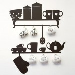 Wall kitchen Stickers for simple look Kitchens Design from Collection Tea Time